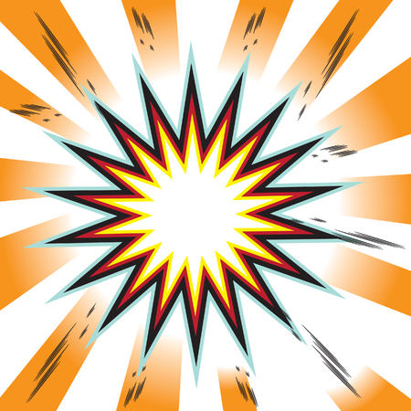 space wars: explosion comic book background Stock Photo