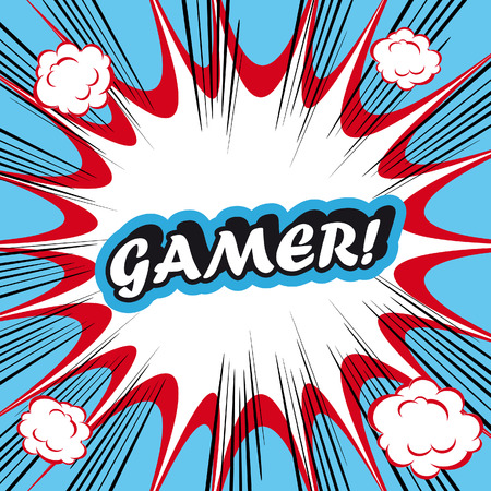 gamer: Pop Art explosion Background Gamer!