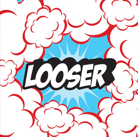 looser: Background clouds retro LOOSER Stock Photo