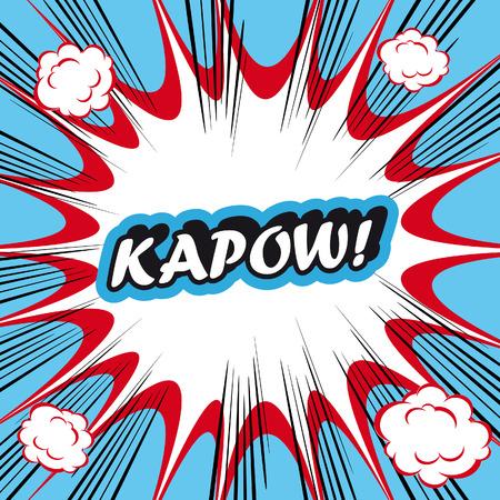 kapow: Pop Art explosion Background kapow!