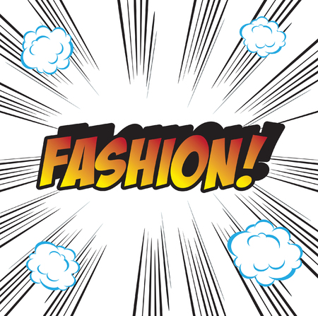 fashion art: pop art background office stamp with the word FASHION Stock Photo