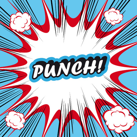 boxing sport: Pop Art explosion Background punch!