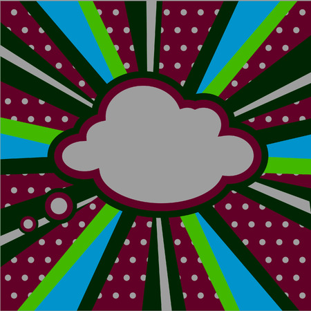 fission: Boom, Pop art inspired illustration of a explosion cloud Stock Photo
