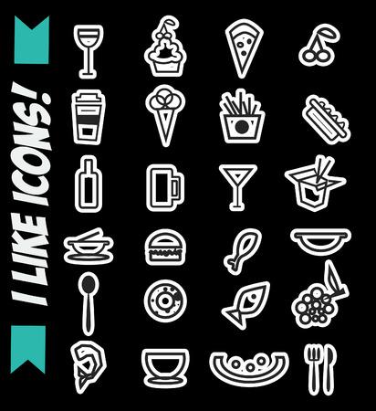i like: Fast food icons set - I like icons!