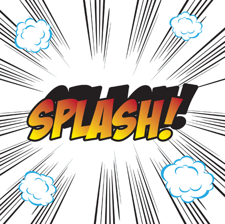 promptness: SPLASH pop art background office stamp with the word