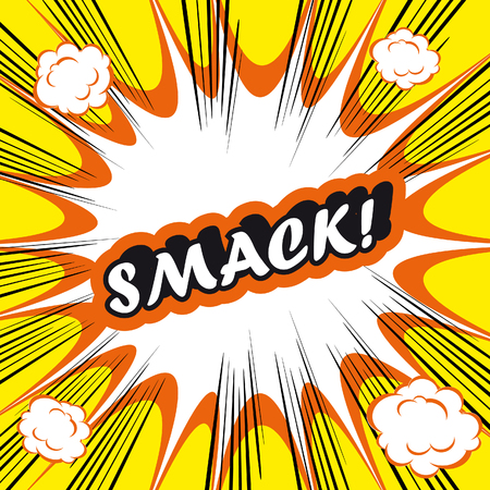 smack: SMACK Pop Art explosion Background smack!