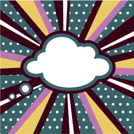 inspired: Boom, Pop art inspired illustration of a explosion cloud Stock Photo