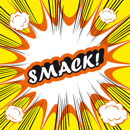 smack: Pop Art explosion Background smack!