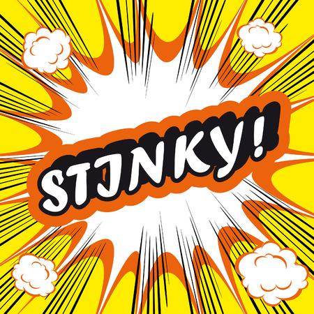 stinky: Pop Art explosion Background stinky! Stock Photo