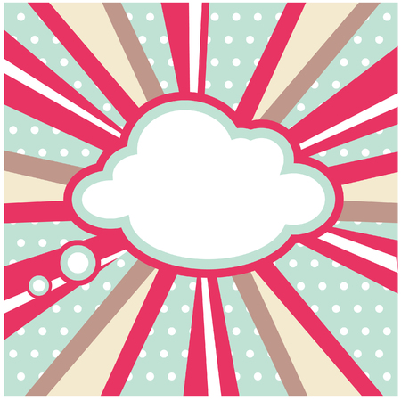 Boom, Pop art inspired illustration of a explosion cloud Stock Photo