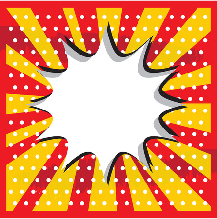 lichtenstein: Boom pop art cloud on a vintage grunge  background sticker Stock Photo