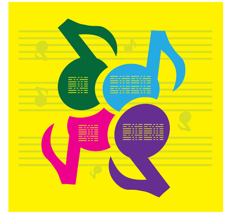music background: Notes Music colors background