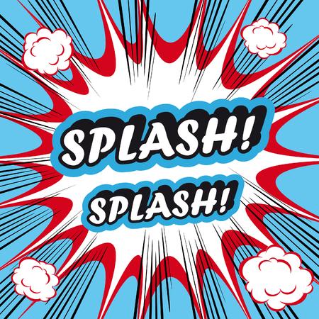 wawe: Pop Art explosion Background Splash! Stock Photo