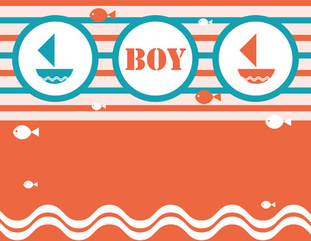 Boys nautical shower Invitation card letter poster template