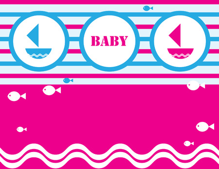 baby shower card design. illustration Stockfoto