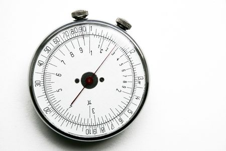 Unique retro round slide rule other party Stock Photo