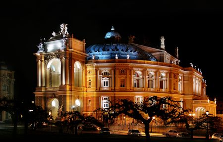 Night kind of the Odessa academic opera and theatre of Viennese