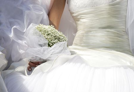 Small white bouquet of the bride