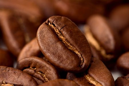 Macro coffee beans Stock Photo - 6660781