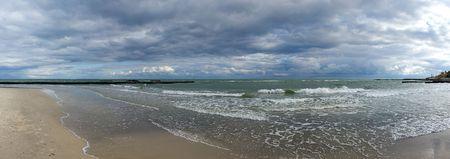 Seacoast autumn panorama