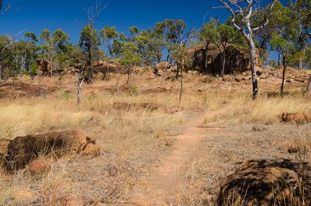 lonesomeness: Hiking trail in the Undara Volcanic National Park Queensland Australia.
