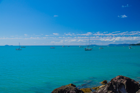 airlie: The waters between the Isles of the Whitsundays are a paradise for sailors.