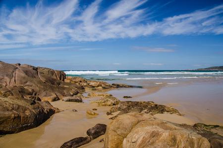 lonesomeness: Rocks at One Mile Beach, Port Stephens, Australia
