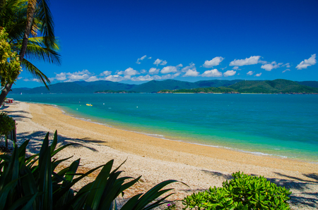 daydream: The outlook from Daydream Island on a beautiful day. Stock Photo