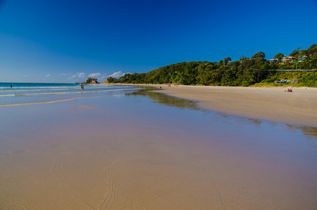 mainland: Beach at Byron Bay, close to the most easterly point of the australian mainland.