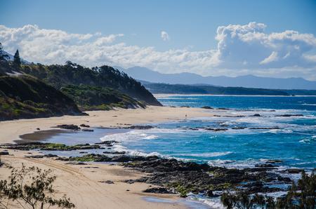 lonesomeness: Wild coastal landscape at Nambucca Heads. Stock Photo