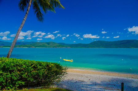 the mainland: View from Daydream Island onto the australian mainland.