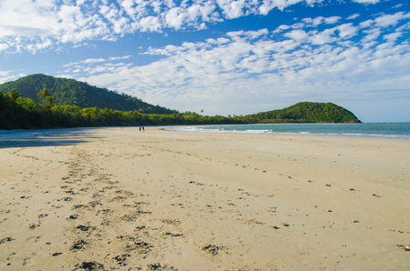 tribulation: Beach at  Cape Tribulation in the Daitree National Park.