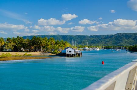 port douglas: View at the port entrance of Port Douglas. Stock Photo