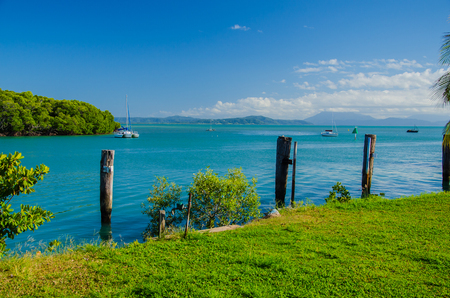 port douglas: The port entrance of Port Douglas in the tropical north of Australia.