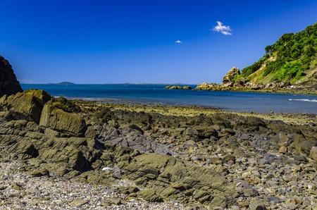 Coast at the Cape Hillsborough National Park. Stock Photo
