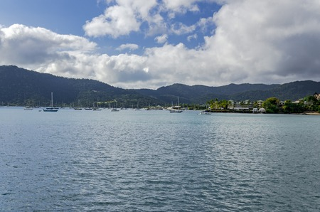 airlie: The harbour entrance of Airlie Beach, Australia. Stock Photo