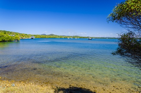 lonesomeness: The sunny harbour of the Town of 1770 in Queensland, Australia.