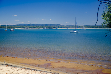 The beautiful coast at the Town of 1770. Stock Photo