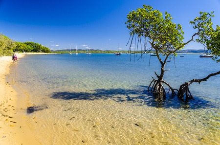A walk along the beach of the Town of 1770, Queensland, Australia.