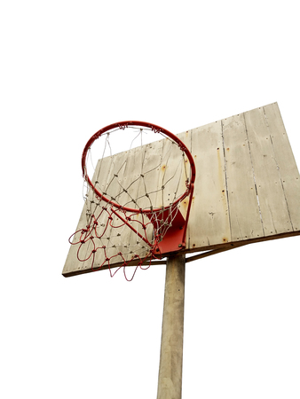 basketball hoop on white background Stock Photo