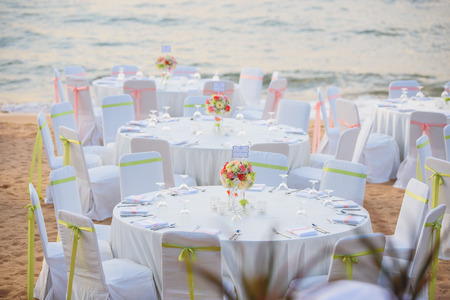 Wedding place on the beach