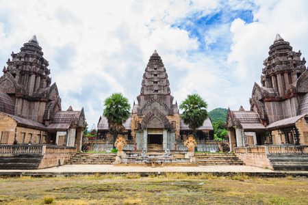 Ancient buddhist khmer temple in Angkor Wat complex, Cambodia