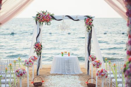 Wedding place on the beach