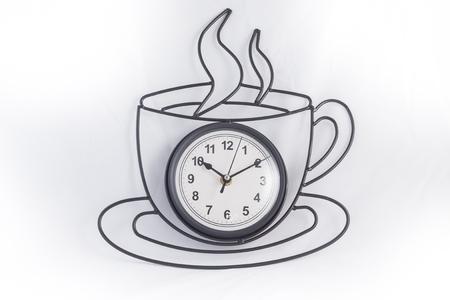 Black clock isolate on white background