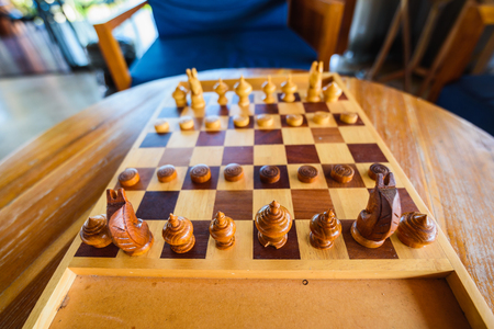 Thai chess on wood table