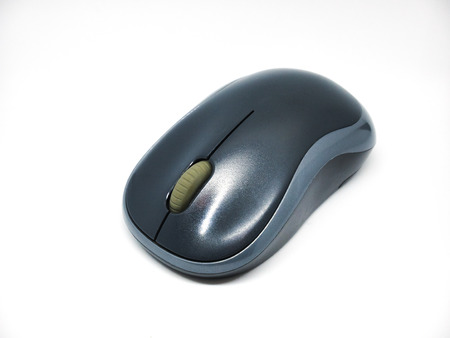 mouse computer gray color isolated on white background Stock Photo