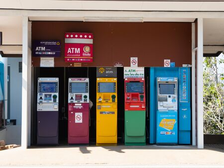 11 January 2020, ATM machine at chiang rai. Thailand