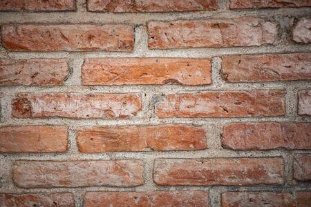 brown brick wallpaper background texture Banco de Imagens