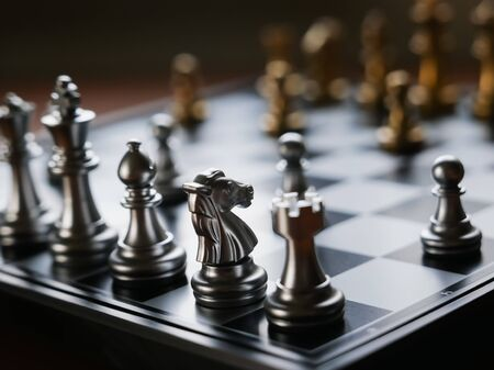 chess on the board, business concept Banco de Imagens