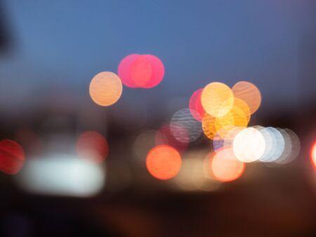 colourful bokeh lighting traffic light Banco de Imagens